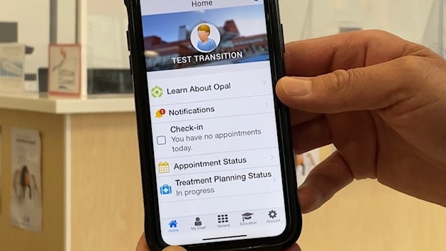 Opal app for COVID-19
