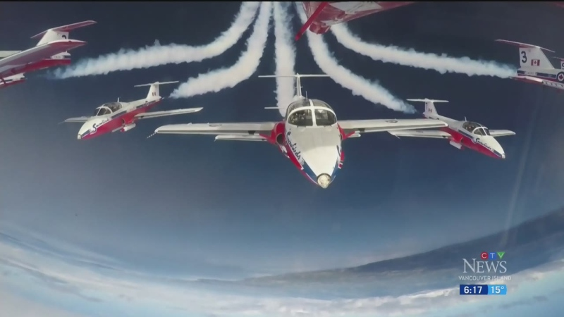 Snowbirds team comes to Mid-Island for training