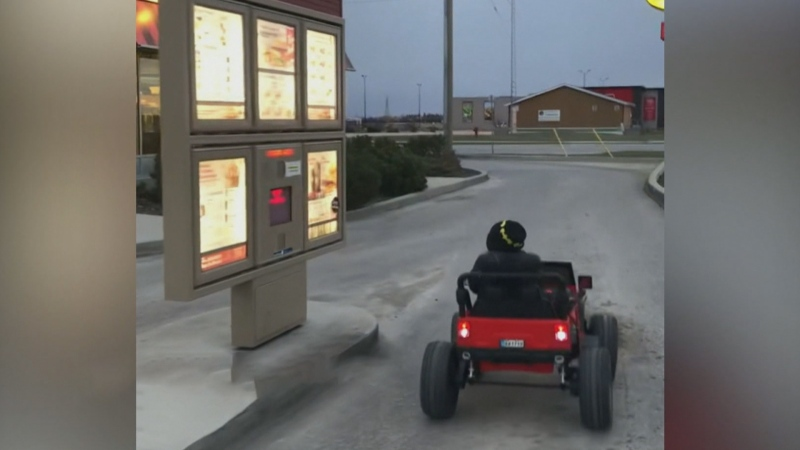 Adorable Manitoba 3-year-old orders from drive-thr
