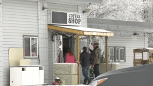 Alberta Health Services shut down the Whistle Stop Cafe near Mirror on the morning of May 5, 2021 (Facebook)