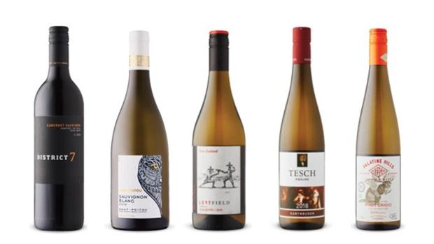 District 7 Cabernet Sauvignon 2018, Ohh! Poitou Sauvignon Blanc 2019, LeftField Gisborne Albariño 2019, Tesch Karthäuser Riesling Trocken 2018, Palatine Hills Estate Winery Wild & Free Pinot Grigio 2017