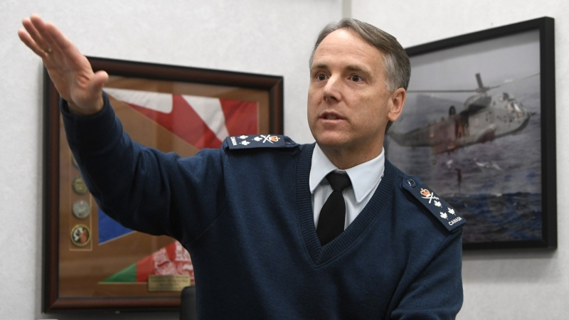 Commander of the Royal Canadian Air Force Al Meinzinger is seen during an interview with The Canadian Press in his office at National Defence headquarters in Ottawa, Thursday, Dec. 12, 2019. THE CANADIAN PRESS/Adrian Wyld