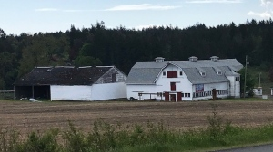 "The so called ""hay barn"" to the left of the iconic Woodwynn Farm Market building is one of several buildings slated for demolition on the property."