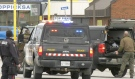 North Bay Police Service made an arrest in the Lee Avenue, Lakeshore Avenue and MacDonald Avenue E area. May 6/21 (Eric Taschner/CTV News)