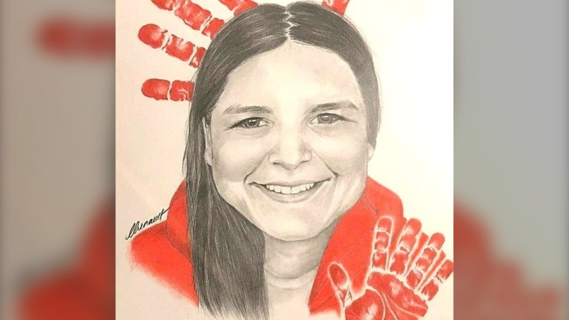 A drawing of Ashley Morin, who was last seen in North Battleford on July 10, 2018. (Krista Fox/Submitted)