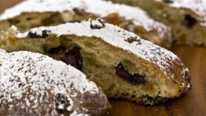 "This photo taken Oct. 12, 2009 shows stollen from Andrew Whitley's ""Bread Matters"". (AP Photo/Larry Crowe)"