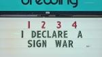 Sign wars in Kingston