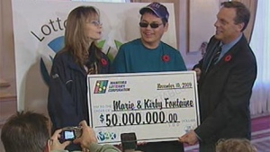 Marie and Kirby Fontaine are the winners of Manitoba's largest lottery.