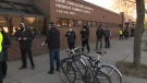 People lined up at the Overbrook Community Centre on Thursday for a drop-in COVID-19 vaccination clinic. (CTV Morning Live)