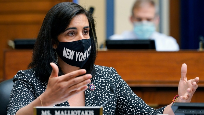 Rep. Nicole Malliotakis, R-N.Y., speaks during a House Select Subcommittee on the Coronavirus Crisis hearing on Capitol Hill in Washington, on April 15, 2021. (Susan Walsh / AP)