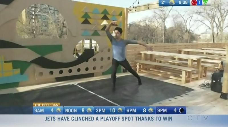 The Beer Can pop-up has live shows featuring RWB dancers. Rachel Lagacé reports.