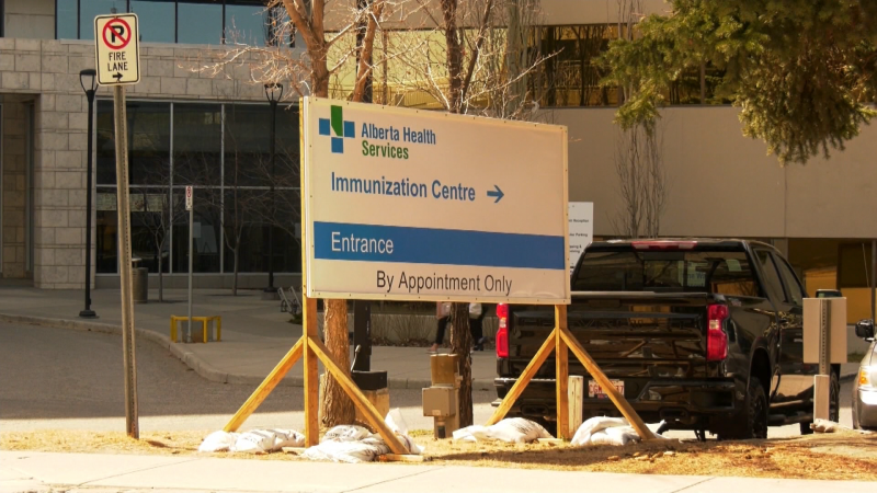Alberta Health Services COVID-19 vaccine clinic