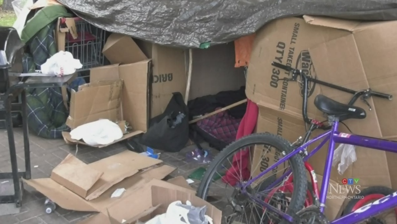 Sudbury homeless encampment. May 5/21 (Alana Everson/CTV Northern Ontario)