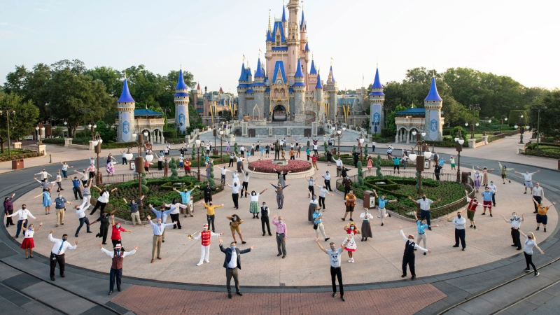 Visitors to Walt Disney World Resort in Orlando, Florida, will be able to skip temperature checks at the park from May 16. (David Roark/Walt Disney World Resort/Getty Images)