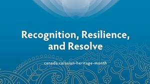 Asian Heritage Month poster. (Source: Government of Canada)