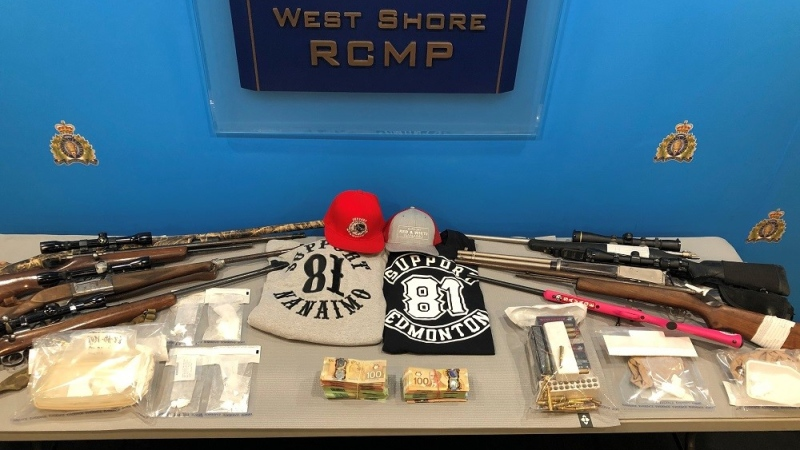 The searches of homes on Barrington Road in Saanich and Steeple Chase Road in Sooke were executed simultaneously on April 23. (West Shore RCMP)