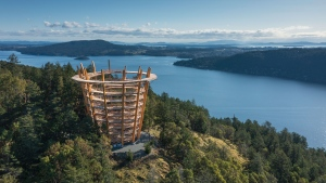 A promotional image of the Malahat SkyWalk is shown: (Malahat SkyWalk)