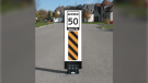 Example of a flexible in-road sign to be installed at various locations in the Town of Tecumseh at the end of May. (courtesy Town of Tecumseh)