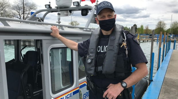 RCMP Constable. Brian Kukhta is a member of the Shiprider unit based in Windsor, Ont. Kukhta and his partner rescued a kayaker from the Detroit River. (Michelle Maluske/CTV Windsor)