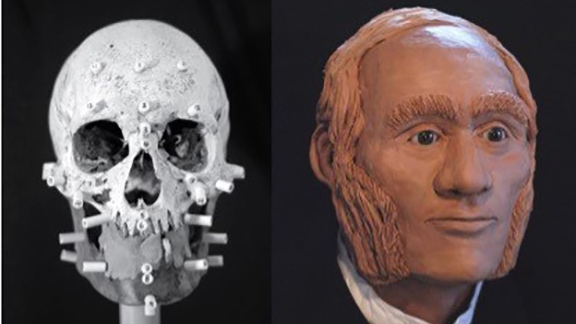 A facial reconstruction of Franklin expedition sailor John Gregory, whose remains were found on King William Island in Nunavut, is shown in a handout photo. Canadian archaeologists have used DNA analysis to identify one of the sailors on the doomed Franklin expedition -- and link him with his modern-day descendants. THE CANADIAN PRESS/HO-University of Waterloo MANDATORY CREDIT