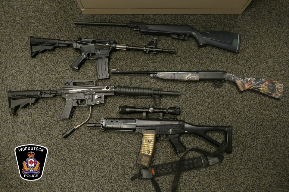 Woodstock firearms seized