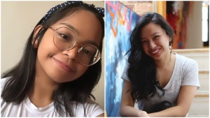 In their new podcast ,Living Hyphen,' co-hosts Trisha Gregorio and Justine Abigail Yu will both exploring how the pandemic experience mirrors that of many immigrants and their children who come to Canada. (Living Hyphen)