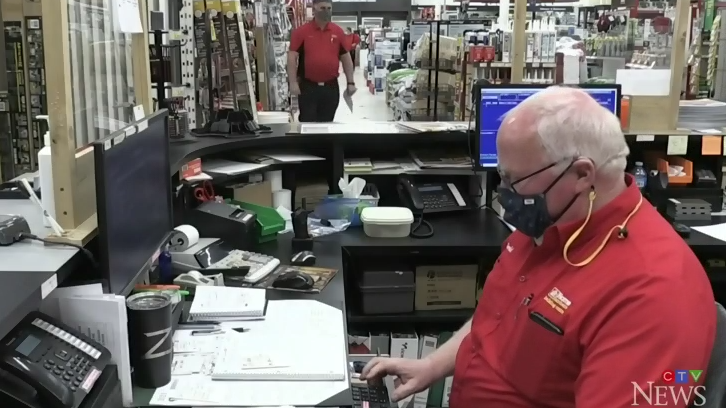 Gerald Gorman, 66, works at the Home Hardware store in Fredericton. On Friday, he will become the longest-serving employee at that location.