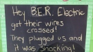 An ice cream shop gets in on the sign wars battle of words. (Rob Cooper/CTV News)