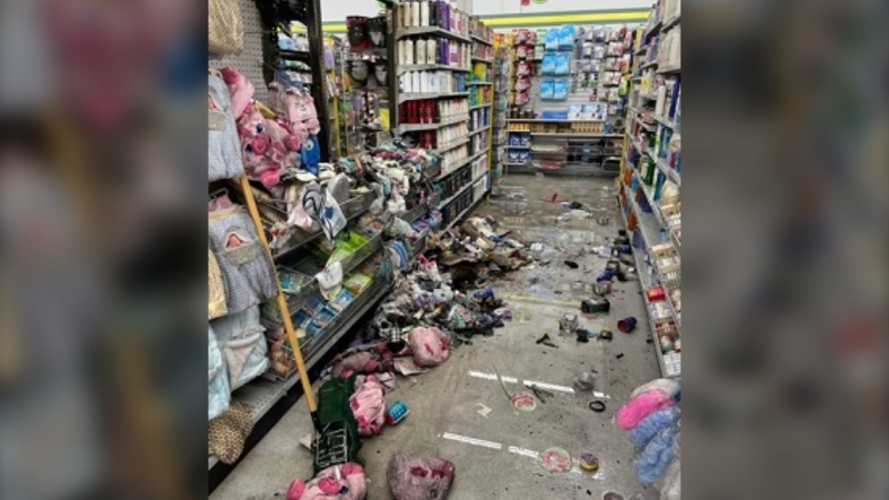 "Police say the fire caused ""considerable damage"" to the store: (Nanaimo RCMP)"