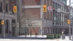 Drivers ignore barricades on Dundas Place