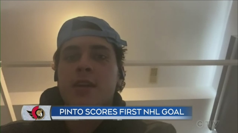 Shane Pinto scores first NHL goal