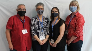 Staff at the Métis Nation-Saskatchewan electoral office are pictured. (Courtesy: Métis Nation-Saskatchewan electoral office)