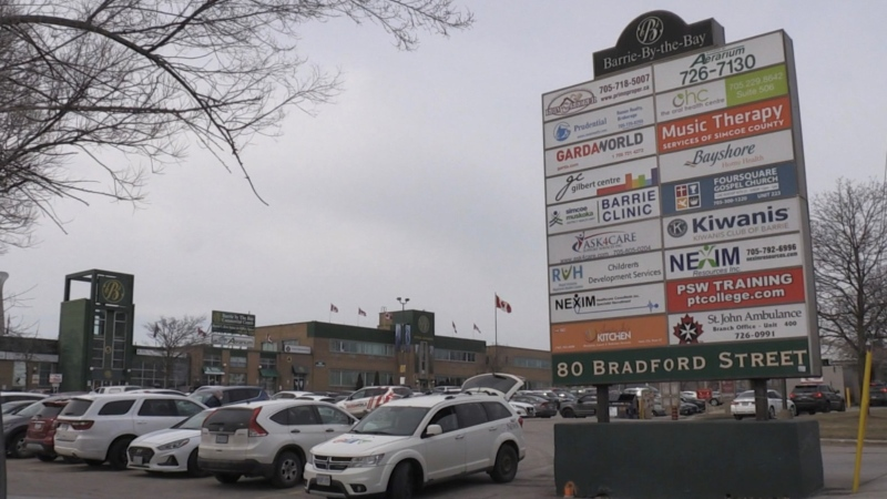 A committee is recommending a plaza on Bradford Street at the edge of downtown Barrie, Ont. as the location for the region's first supervised consumption site (CTV News)