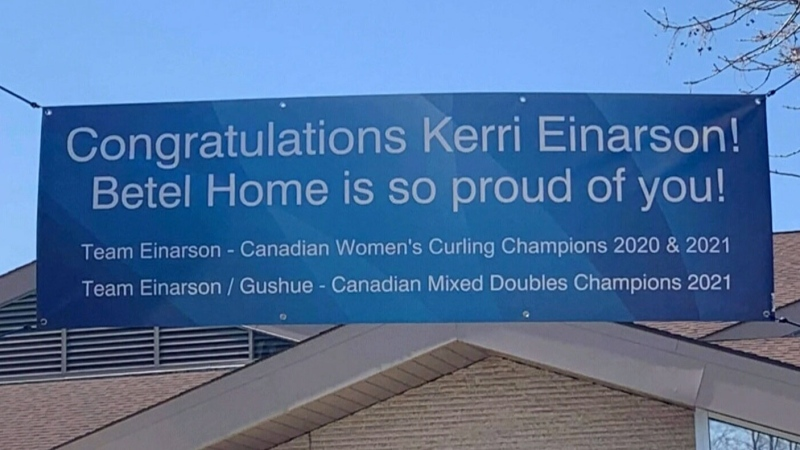 Hometown support for Einarson
