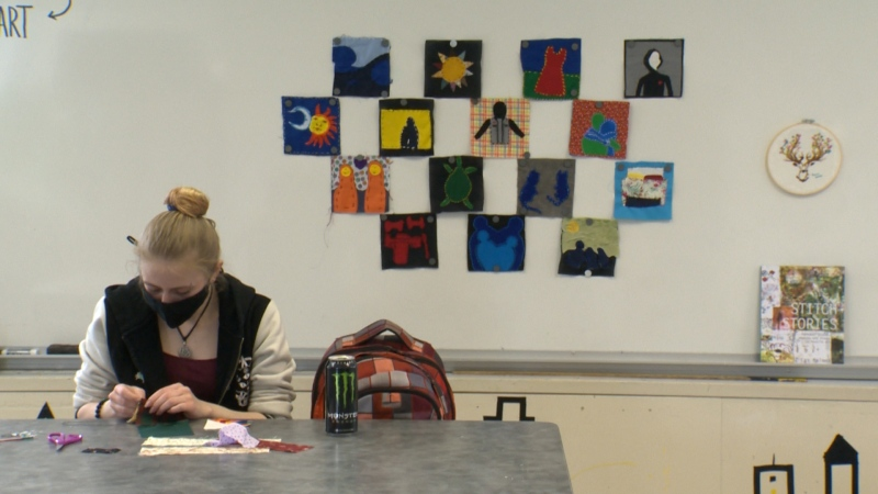 Students at Dakota Collegiate Institute in the Louis Riel School Division will each create a square with an image on it for a quilt as part of the 'Stitching and Story' project.