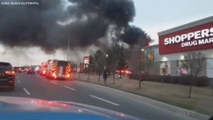 St. Albert retirement home up in flames