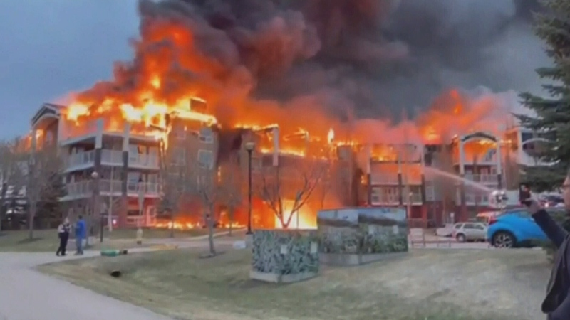 Retirement home in St. Albert, Alta. goes up in flames