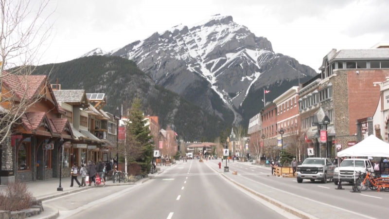 Town of Banff officials are discouraging visits to the mountain destination. (file)