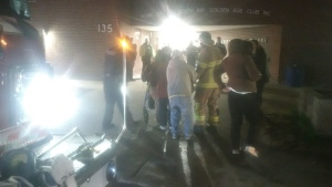Residents of North Bay senior's complex evacuated after overnight fire. May 7/21 (North Bay Fire and Emergency Services)