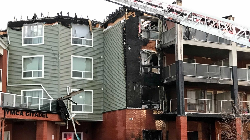 Extensive damage was caused to Citadel Mews West by a fire on May 6, 2021.