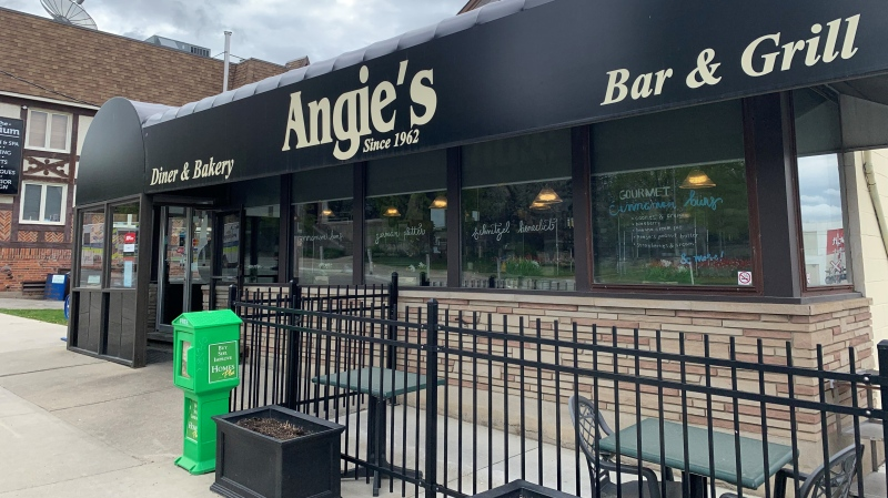 Angie's Kitchen in Waterloo is closing after 59 years. (Stephanie Villella/CTV Kitchener) (May 7, 2021)