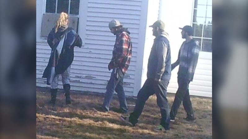 The RCMP on Miscou Island, N.B. are asking for the public's help in identifying four individuals who police believe are connected to two recent break and enters at a local church.  (Photo courtesy: RCMP)