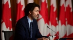 Prime Minister Justin Trudeau speaks during a press conference to update Canadians on the COVID-19 pandemic, in Ottawa on Friday, May 7, 2021. THE CANADIAN PRESS/Sean Kilpatrick