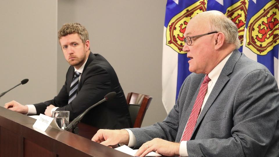 Premier Iain Rankin and Dr. Robert Strang