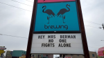 Kingston businesses share a message of support for education assistant Angie Berman. (Photo courtesy: Kingston's Move 98.3)
