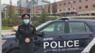 Barrie Police Chief Kimberley Greenwood speaks out about anti-lockdown protests in Barrie, Ont. on Fri. May 7, 2021 (Barrie Police Services/YouTube)