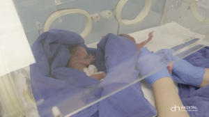 The babies were born weighing between 1.1 and 2.4 pounds. (Akdital via CNN)