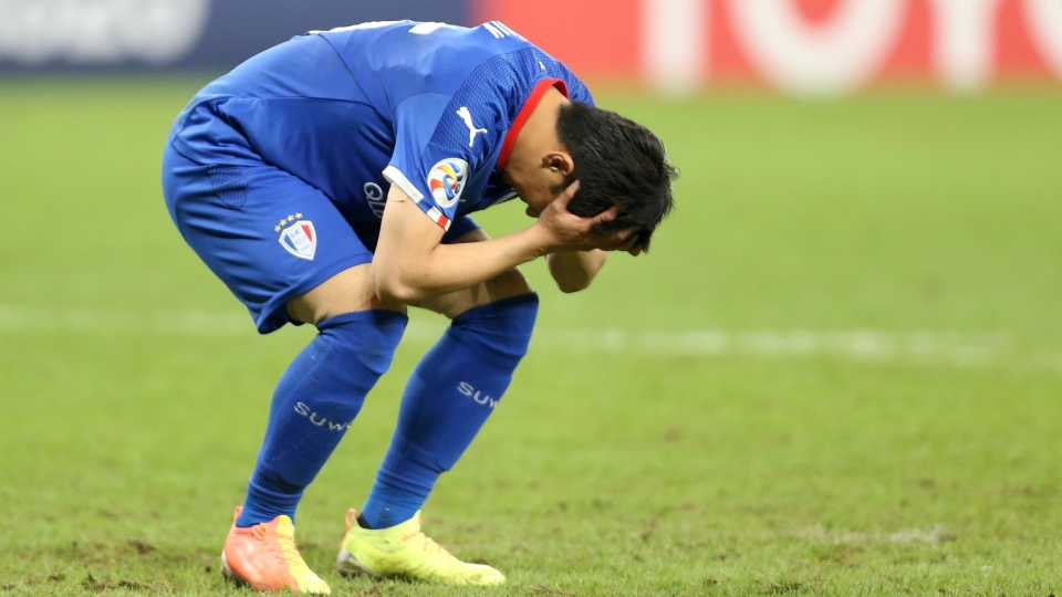Jang Ho-Ik after missed soccer penalty kick