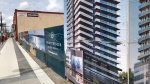 The Five Points condominium project planned for downtown Barrie, Ont. has been shelved. Fri. May 7, 2021 (Rob Cooper/CTV News)
