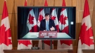 President of the Queen's Privy Council for Canada Dominic LeBlanc participates in a news conference via video conference Tuesday January 5, 2021 in Ottawa. THE CANADIAN PRESS/Adrian Wyld